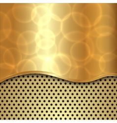 Abstract gold background with curve and cells vector