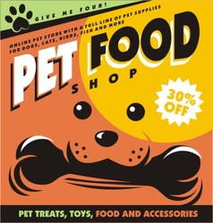 Pet food vector