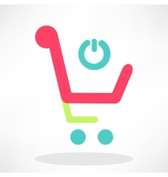 3d of shopping chart icon vector image vector image