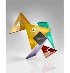 3d triangle modern composition vector