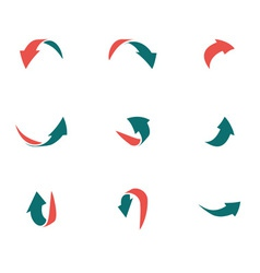 Arrows 2d green red p2 vector
