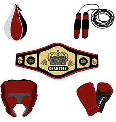Boxing set vector