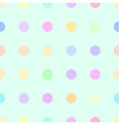 Cute pastel rainbow or colorful polka background vector
