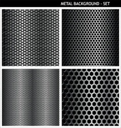 metal background set vector image
