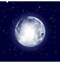 Full moon halloween background vector