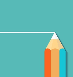 Pencil draw Stock vector image