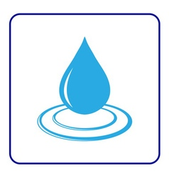 Water drop icon with wave 6 vector