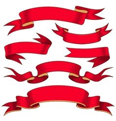 Ribbons red vector
