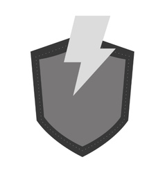Lightning and shield icon vector