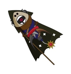 Fireworks pirate with angry facial expression vector