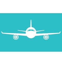 Airplane icon front view flying aircraft vector