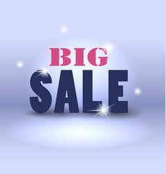 big sale over abstract background vector image