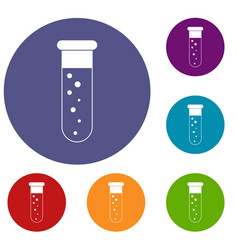 Blood test icons set vector