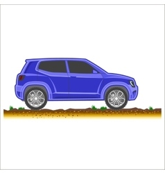 Blue suv car off-road 4x4 icon colored vector