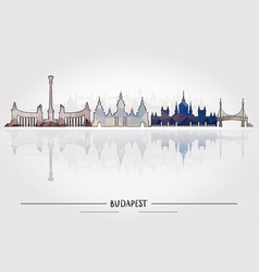business travel concept budapest architecture vector image