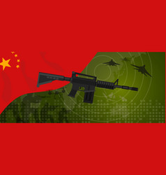 China military power army defense industry war and vector
