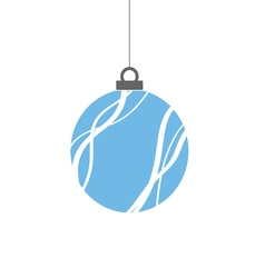 christmas ball blue vector image