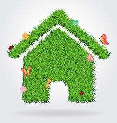 Creative eco house icon concept vector image vector image