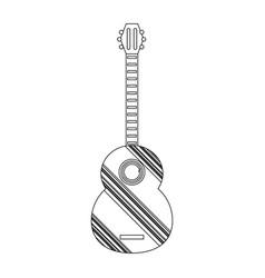 decorative guitar vector image vector image
