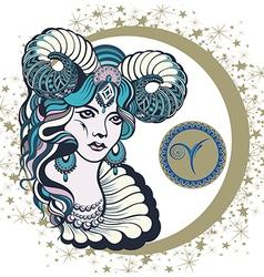 Decorative Zodiac sign Aries vector image