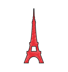 Eiffel tower architecture vector