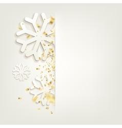 Elegant Christmas backgroundConfetti isolated vector image vector image