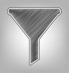 Filter simple sign pencil sketch vector