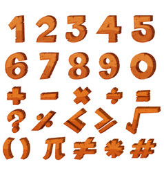 Font design for numbers vector