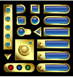 gold buttons vector image vector image