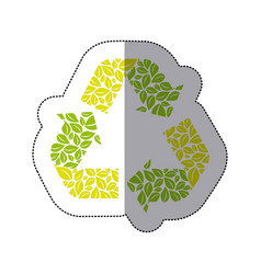 green symbol reuse reduce and recycle icon vector image vector image