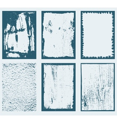 Grunge Frames Textures 1 vector image vector image