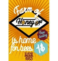 Honey farm banner vector