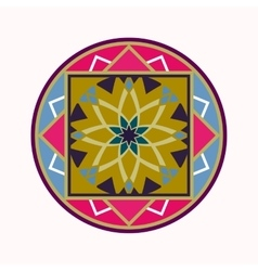 Mandala tattoo icon geometric round stylized vector