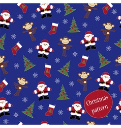 Monkey Happy new year pattern vector image vector image