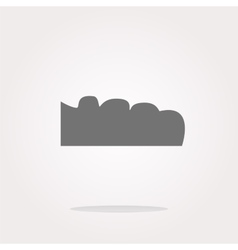 mountain on glossy web icon isolated on vector image vector image