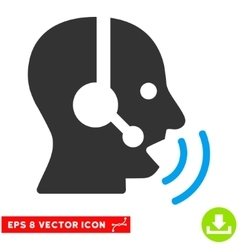Operator speech sound waves eps icon vector