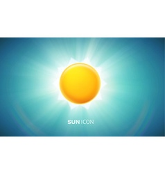 Orange glowing sun eps 10 vector