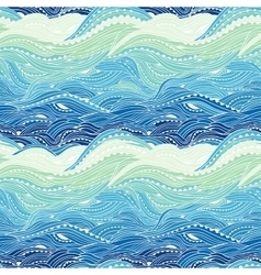 Pattern Sea Blue Big Light vector image vector image
