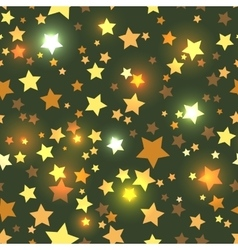 Seamless with shiny golden stars vector image