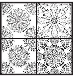 set of floral seamless patterns vector image vector image