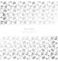 Silver foil ornamental background vector