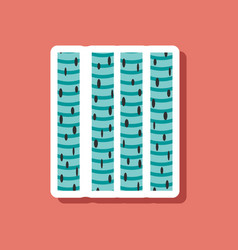 Skeletal striated muscle paper sticker on stylish vector