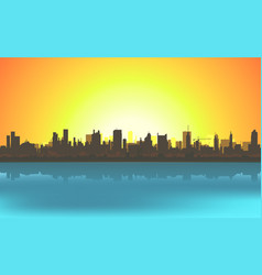 summer cityscape background vector image