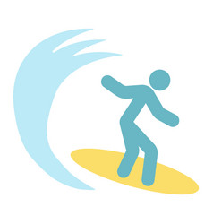 surfer flat icon travel and tourism surfing vector image