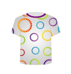 T Shirt Template- Floral tee vector image