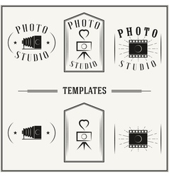 Vintage insignias and logotypes set vector