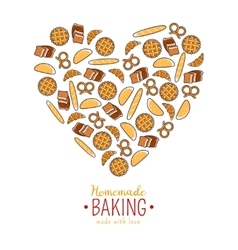 Homemade baking emblem vector