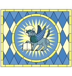 Symbol of Luke the Evangelist Winged Ox vector image