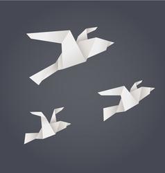 Paper origami birds vector image