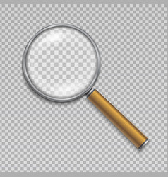 Magnifying glass realistic vector
